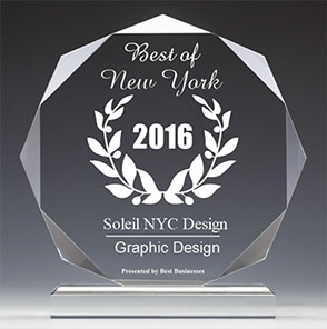 Soleil NYC Design 2016 Best Businesses of New York Award for Graphic Design